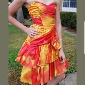 Zum Zum Juniors Sz 13 Vtg Strapless Prom Dress